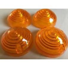 Flasher lamp lens